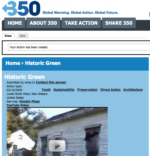 Historic Green @ 350.org