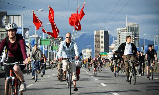 Critical-mass-bike-ride-vancouver