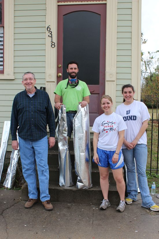Loye Ruckman  Homeowner, Vincent Fedeli CSED,  Volunteers Ana Jara, Katie Stoughton  of George Washington School of Law