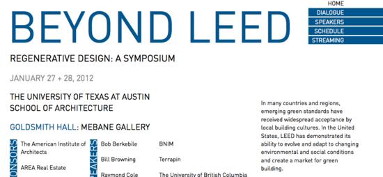 Beyond LEED, Regenerative Design