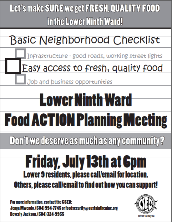 Food Action Planning Meeting