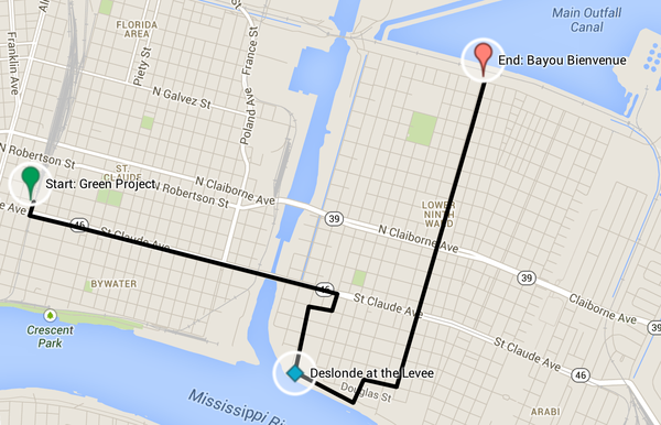Bike Ride Map April 5 2014