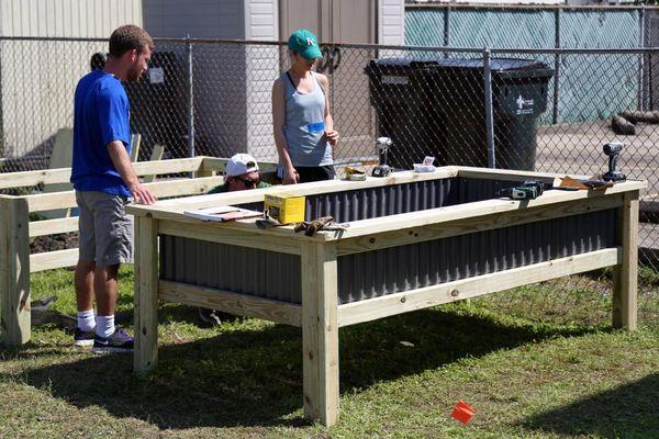 Garden Boxes Build
