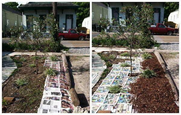 Dauphine Garden Paper Mulch Collage